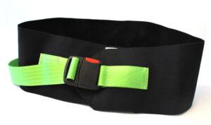 Waist belt, safety buckle